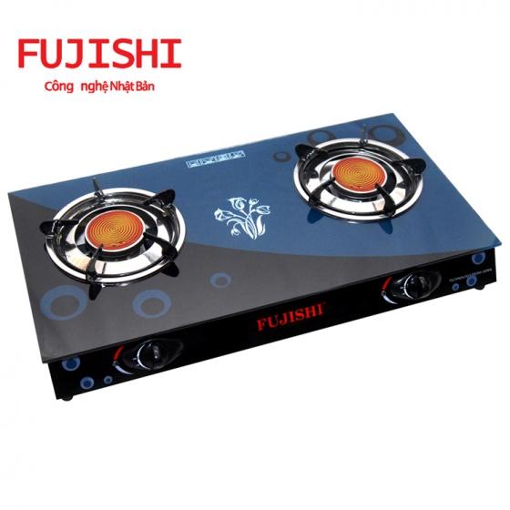 Bếp gas đôi hồng ngoại điếu inox Fujishi FJ-H10-HN
