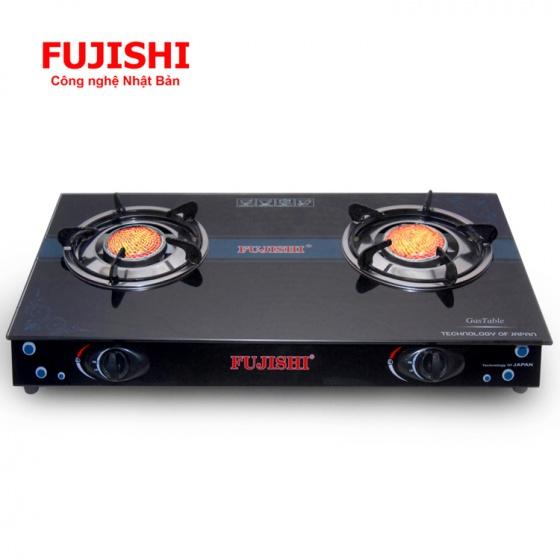 Bếp gas đôi hồng ngoại điếu inox Fujishi FJ-H15-HN