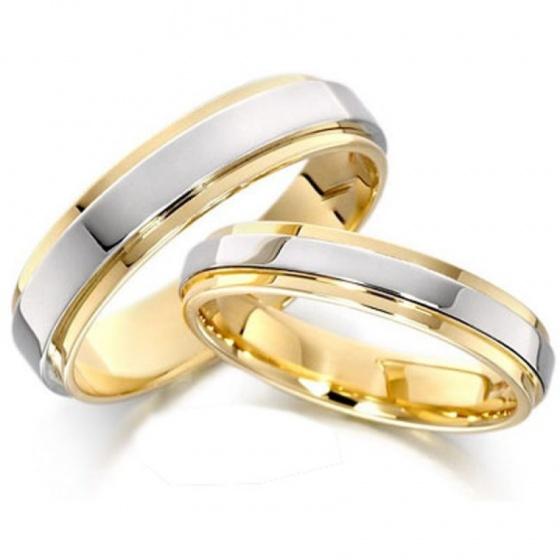 Nhẫn cặp bạc mạ vàng 14k - N02