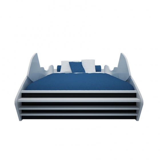 Giường bé trai hình mô tô màu xanh 1m4 - Ibie
