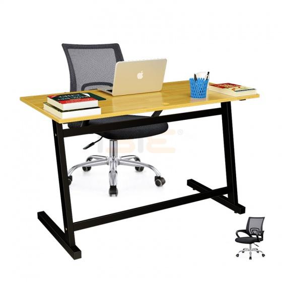 Bộ bàn Rec-Z đen gỗ cao su và ghế IB517 đen - IBIE