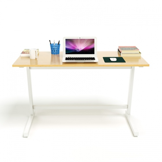 Bộ bàn Oak-Z trắng và ghế IB517 đen - IBIE