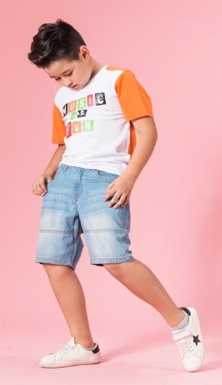 UN12 - Áo thun bé trai (trắng)