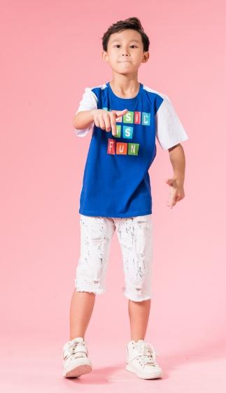 UN12 - Áo thun bé trai (xanh)