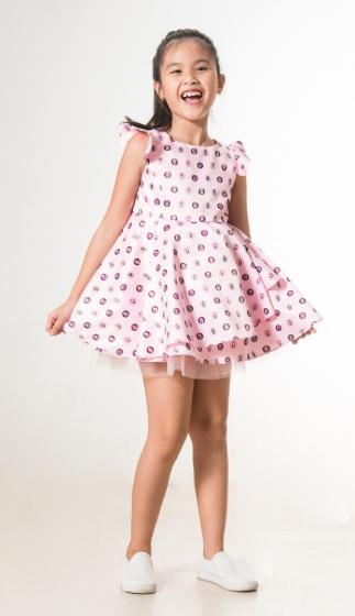 UN28 - Đầm xòe bé gái