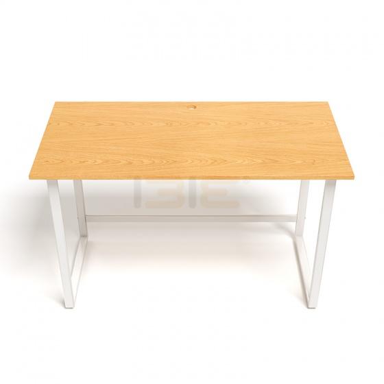 Bộ bàn Rec-F trắng gỗ cao su và ghế IB16A đen