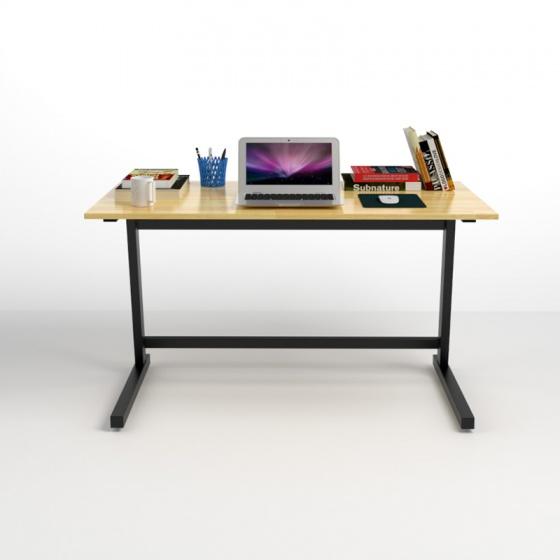 Bộ bàn Rec-Z đen gỗ cao su và ghế IB16A đen