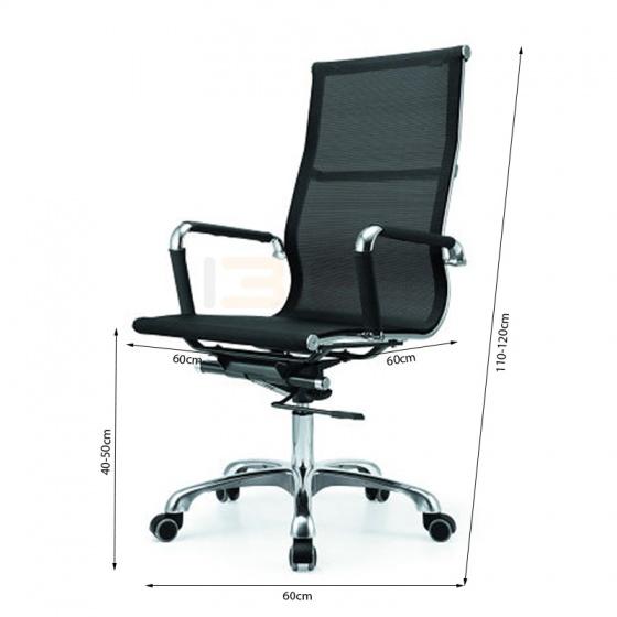 Bộ bàn Oak-T trắng và ghế IB16A đen