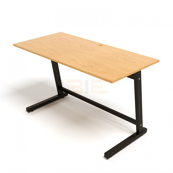 Bộ bàn Oak-Z đen và ghế IB16A đen
