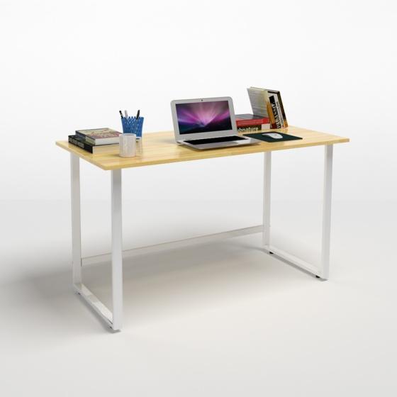 Bộ bàn Rec-F trắng và ghế IB505 có tay đen