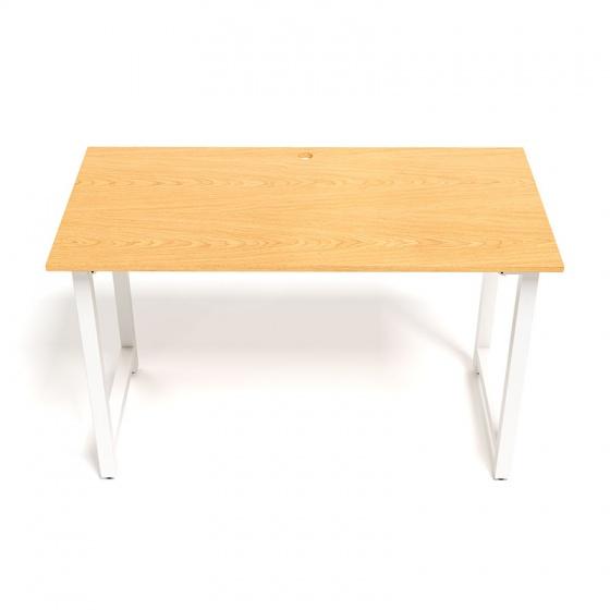 Bộ bàn Oak-T trắng và ghế IB505 có tay đen
