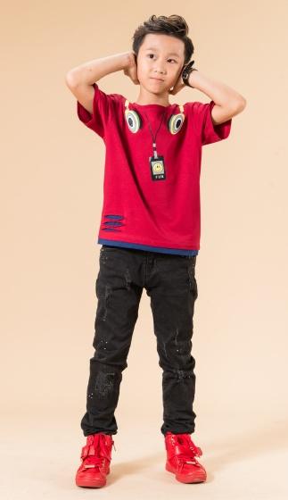 UN04 - Áo thun bé trai(đỏ đô)