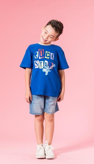 UN05 - Áo thun bé trai (xanh)
