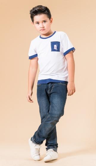UN11 - Áo thun bé trai (trắng)