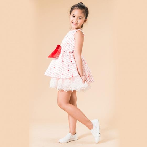 UN31 - Đầm xòe bé gái
