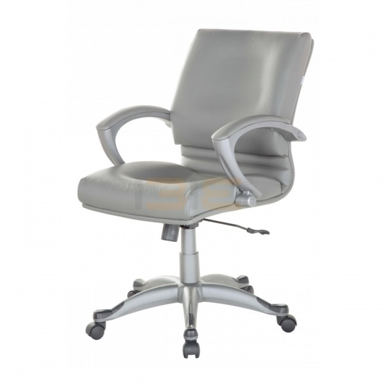 Ghế Trưởng phòng IB331 tay ốp da PU chân ngoại nhập cao cấp màu bạc