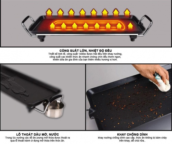 Bếp nướng điện không khói Comet CM5665