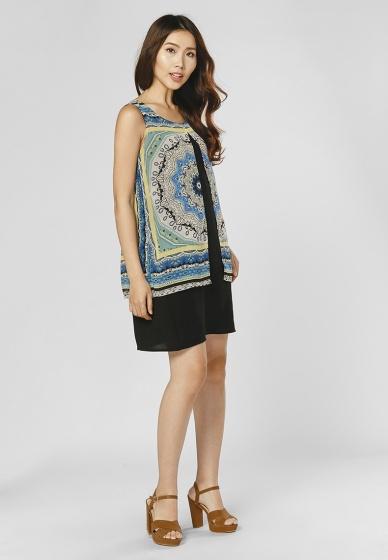 Đầm suông cách điệu HK 552 - Hoàng Khanh