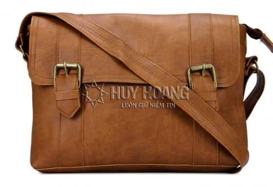 Túi xách Huy Hoàng 2 viền dọc màu bò nhạt HV6109