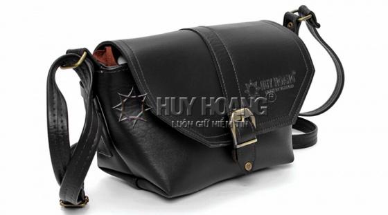 Túi xách bầu nhỏ Huy Hoàng màu đen HV6143