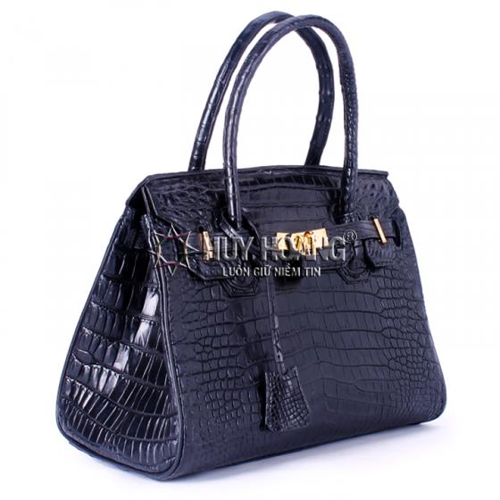 Túi xách nữ da cá sấu Huy Hoàng Vip màu đen HV6238