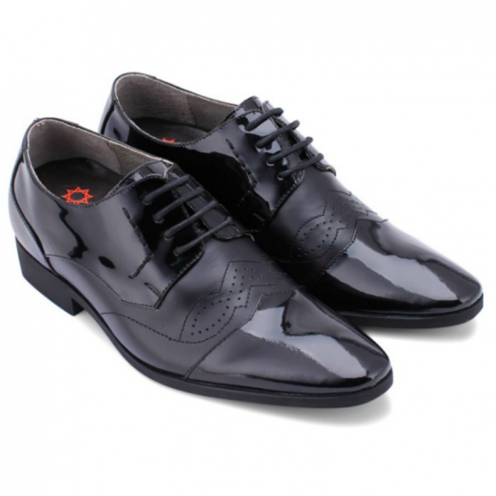 Giày tăng chiều cao Huy Hoàng màu đen  HV7180