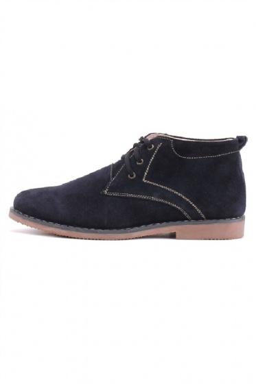 Giày boot nam Huy Hoàng da lộn màu xanh đậm HV7192