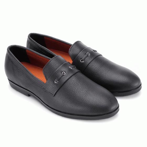 Giày nam Huy Hoàng đan 1 dây màu đen HV7737