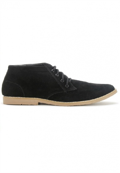 Giày nam Huy Hoàng cổ trung màu đen HV7761