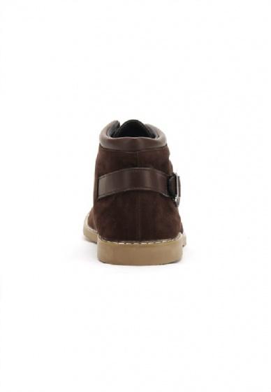 Giày nam Huy Hoàng cổ trung màu nâu HV7763