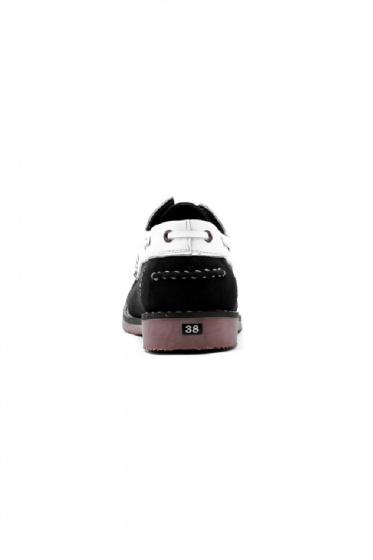 Giày nam Huy Hoàng màu trắng phối đen HV7166