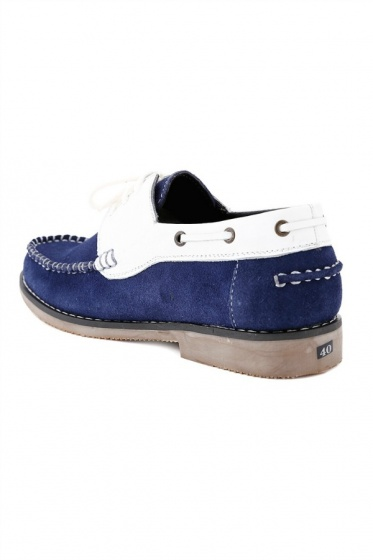 Giày nam Huy Hoàng màu trắng phối xanh HV7168