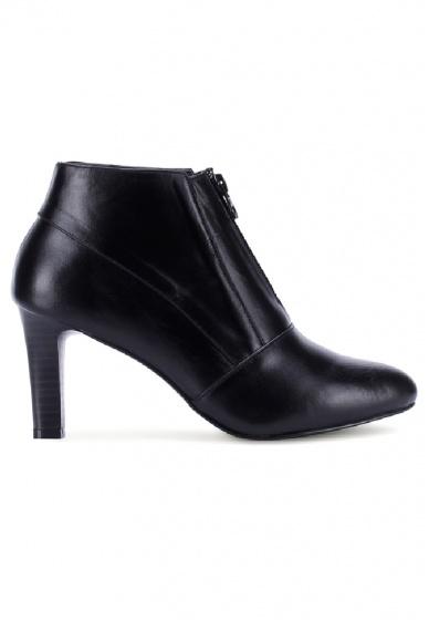 Giày boot nữ Huy hoàng da bò màu đen HV7037