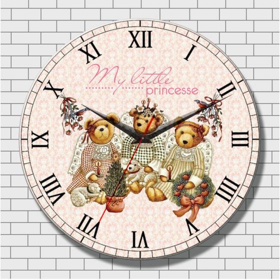 Đồng hồ tranh gỗ tròn - R0112