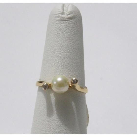 Nhẫn ngọc trai tự nhiên vàng 14k - NNU514