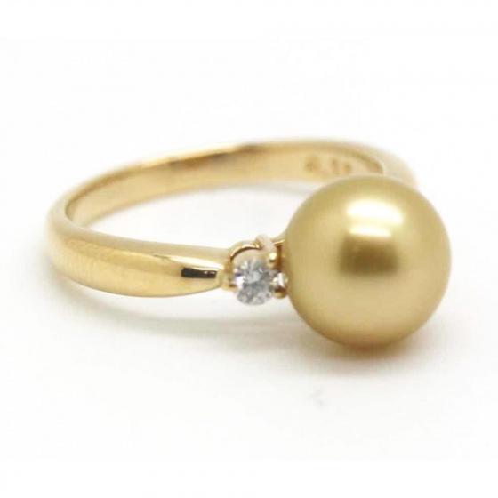 Nhẫn ngọc trai tự nhiên vàng 14k - NNU511