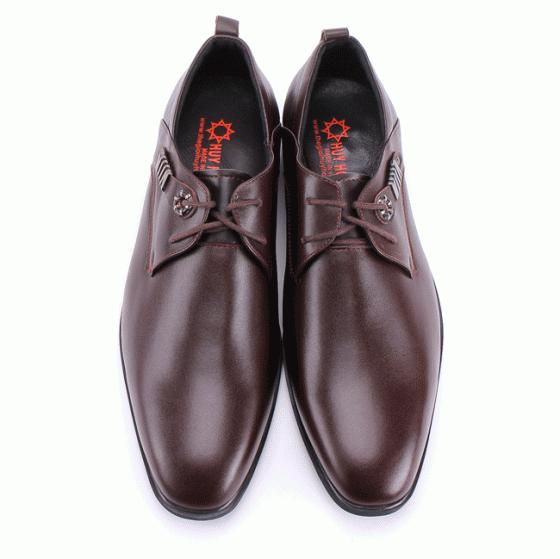 Giày nam thời trang Huy Hoàng  màu nâu HV7161
