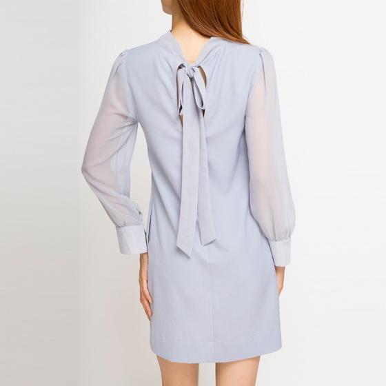 Đầm suông tay dài Hity DRE003 (xanh morningsky)