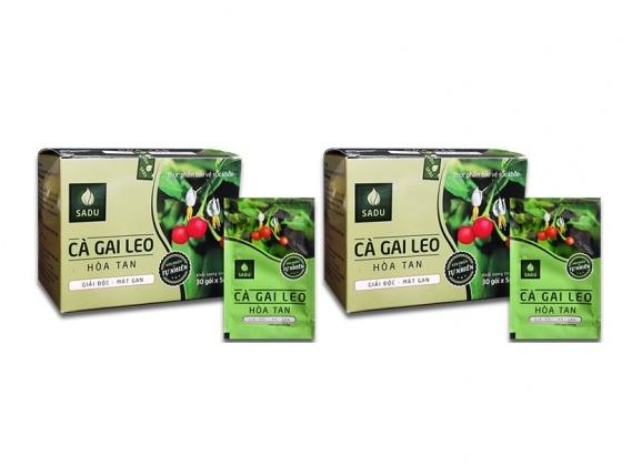 Combo 2 hộp trà bột hòa tan cà gai leo giải độc mát gan - 100% sản phẩm tự nhiên (150g/hộp)