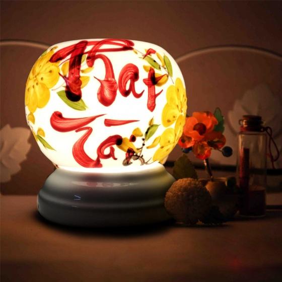 Đèn xông tinh dầu gốm Bát Tràng - Phát Tài + Tặng 01 lọ tinh dầu sả chanh 10ml
