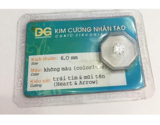 Đá kim cương nhân tạo hàng được kiểm định (6 li) - MDC801