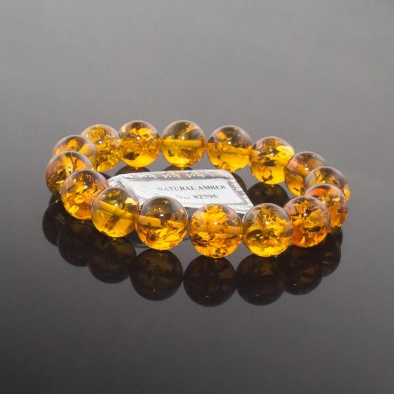 Vòng Hổ Phách Baltic nâu vàng 12mm đặc biệt cao cấp.1