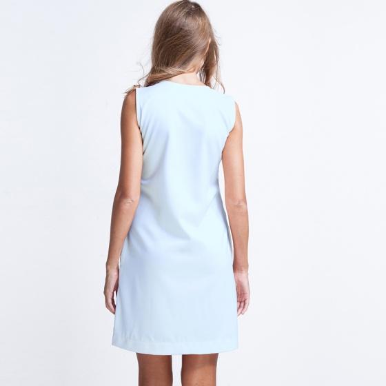 Đầm suông form rộng Hity DRE016 (xanh morningsky)