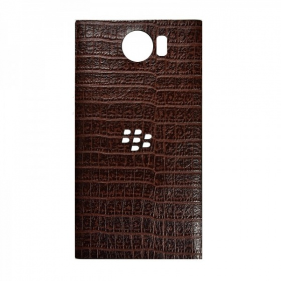 DTR - Dán lưng da Blackberry Priv cá sấu màu nâu