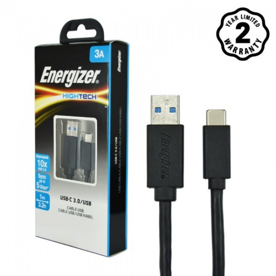 Cáp USB Type-C 3.0 Energizer 1.2m (Black) - C11C3AMGBK4