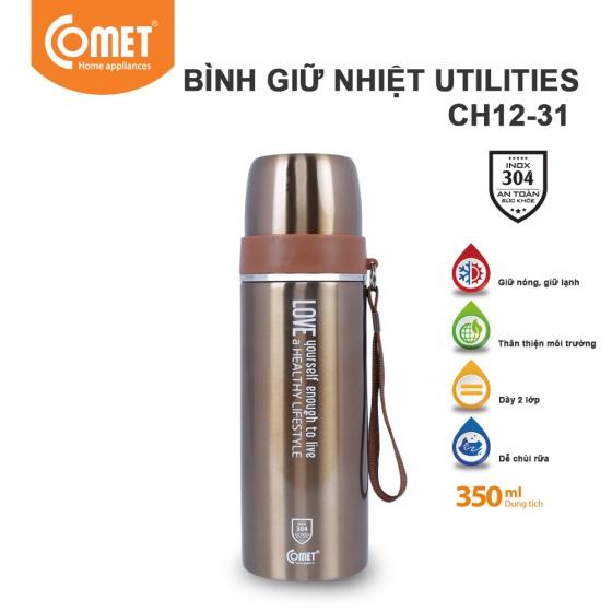 Bình giữ nhiệt Utilities 350ml Comet CH12-31 - Vàng đồng