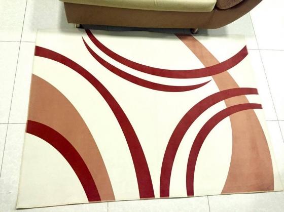 Thảm nhung 3D màu nâu nhỏ Binbin TSN17 (60 x 90cm)