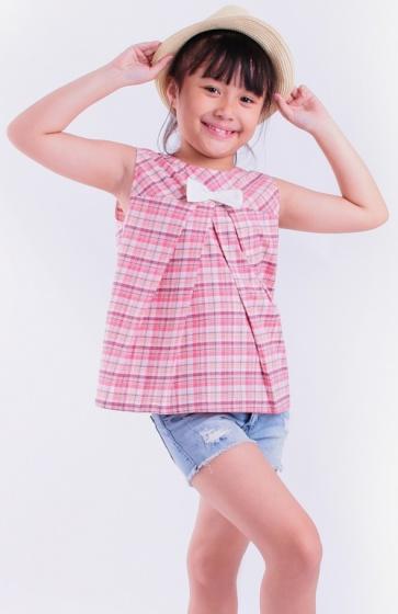 Áo kiểu bé gái Ugether UKID51 (Hồng nhạt)