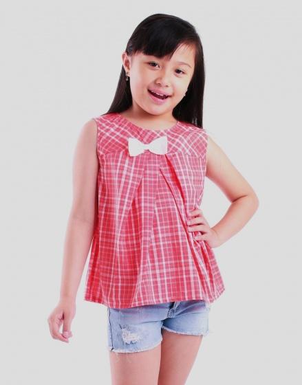 Áo kiểu bé gái Ugether UKID51 (Hồng đậm)