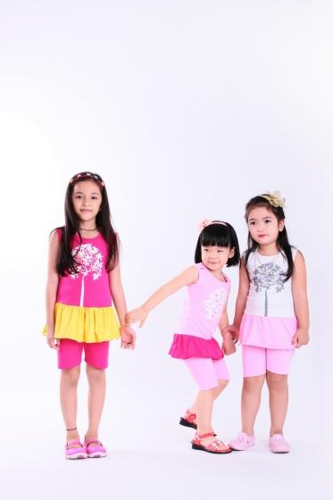 UKID33 - đồ bộ bé gái (hồng đậm)